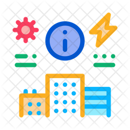 Building Information Colored Outline Icon