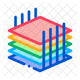 Building Sheets Colored Outline Icon