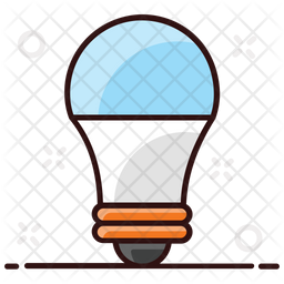 Bulb Colored Outline Icon