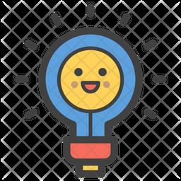 Bulb Smiley Emoji Icon
