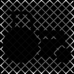 Bulldozer Glyph Icon