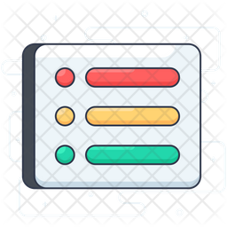 Bullet Points Icon Of Colored Outline Style Available In Svg Png Eps Ai Icon Fonts
