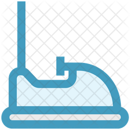 Bumping Car Colored Outline Icon