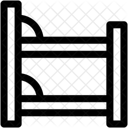 Bunk Bed Line Icon