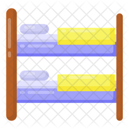 Bunk Bed Flat Icon