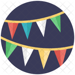 Bunting Flags Icon