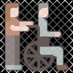 Burden elderly care Icon