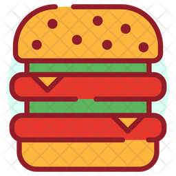 Burger Colored Outline Icon