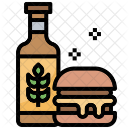 Burger With Beer Icon