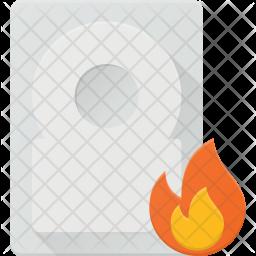 Burn hdd Icon