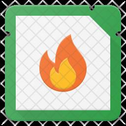 Burn Microchip Icon