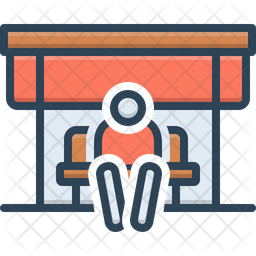Bus Wait Icon