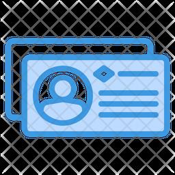 Business Card Dualtone Icon