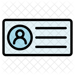 Business Card Colored Outline Icon