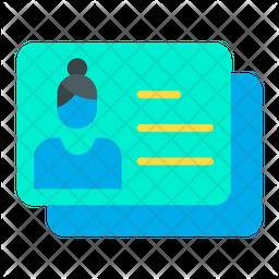Business Identity Card Flat Icon