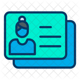 Business Identity Card Colored Outline Icon