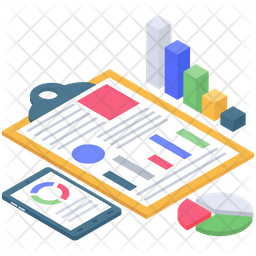 Business Report Vector Icon