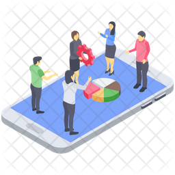 Business Team Collaboration Icon