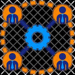 Business Teamwork Flat Icon