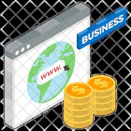 Business Website Isometric Icon