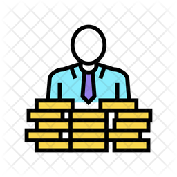 Businessman Colored Outline Icon