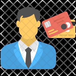 Businessman Card Icon
