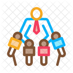 Businessman Interview Icon Of Colored Outline Style Available In Svg Png Eps Ai Icon Fonts