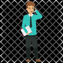 Businessman Telephoning Icon