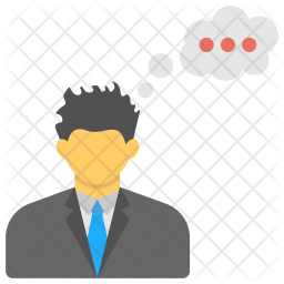 Businessman Thought Logo Icon