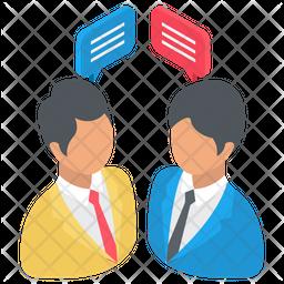 Businessmen Discussing Icon