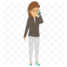 Businesswoman Making Call Icon