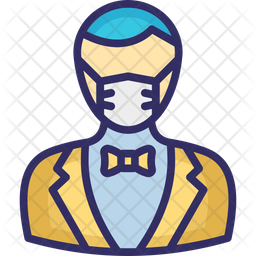 Butler Wearing mask Icon