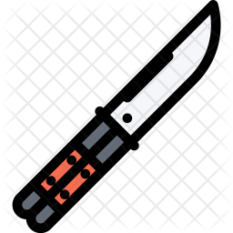 Butterfly, Knife, Law, Crime, Judge, Court, Police Icon