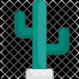 Cactus plant Flat Icon