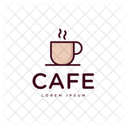 Cafe Colored Outline  Logo Icon