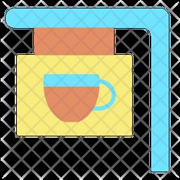 Cafe Board Flat Icon