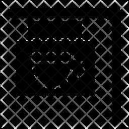 Cafe Board Glyph Icon