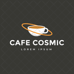 Cafe Cosmos Colored Outline  Logo Icon
