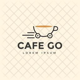Cafe Go Colored Outline  Logo Icon
