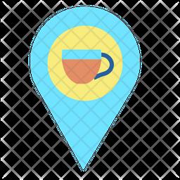 Cafe Location Flat Icon
