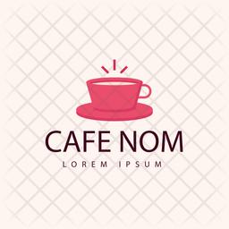 Cafe Nom Colored Outline  Logo Icon