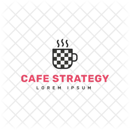 Cafe Strategy Colored Outline  Logo Icon