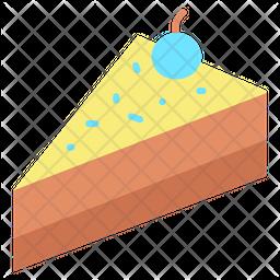Cake Slice Flat Icon