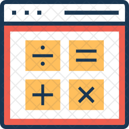 Calculation Colored Outline Icon