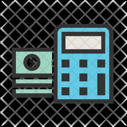 Calculator Colored Outline Icon