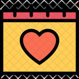 Calendar, Love, Relationship, Wedding, Valentines, Day Icon