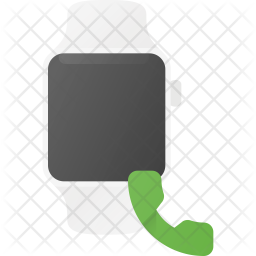 Call receive from Watch Flat Icon