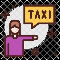 Calling Taxi Icon