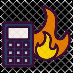 Calorie calculation Icon