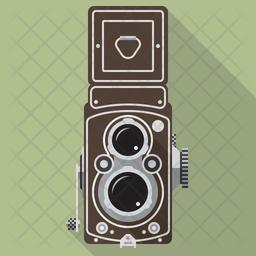 Vintage Twin-Lens Camera Icon